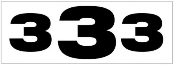 Set of number decals